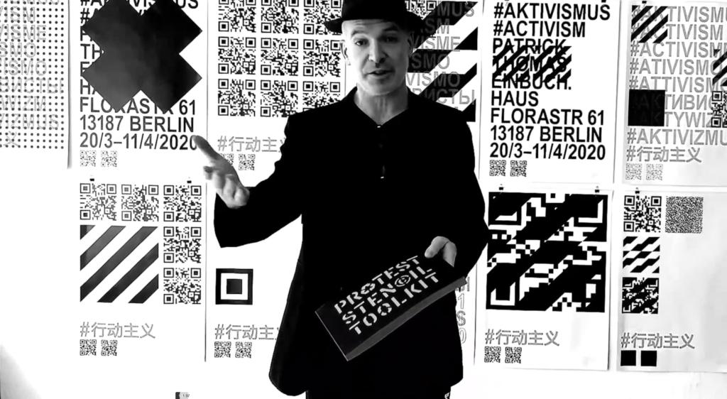 Patrick Thomas spricht über seine Ausstellung #AKTIVISMUS  bei einBuch.Haus