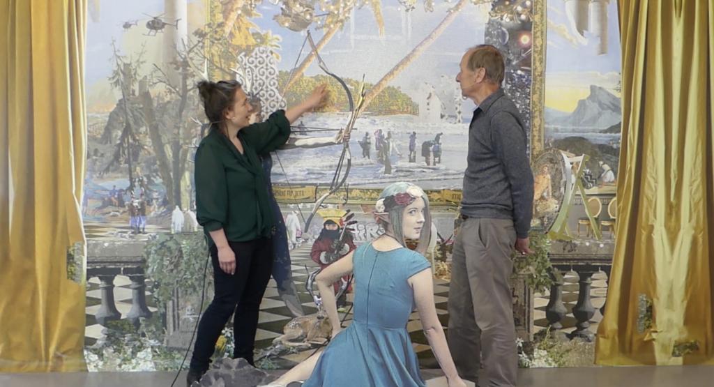 Patricia Lambertus in Gespräch mit dem Galeristen Ernst Hübner