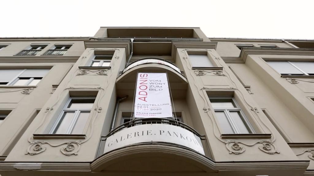 """Ausstellung """"Adonis – Vom Wort zum Bild"""" in der Galerie Pankow"""